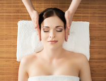Young, beautiful and healthy woman in a spa salon Royalty Free Stock Image