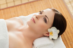 Young, beautiful and healthy woman in spa salon Stock Image