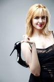 Young beautiful high blonde Royalty Free Stock Photography