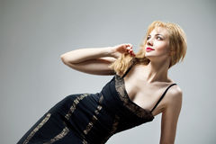 Young beautiful high blonde Stock Image