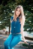 Young beautiful hipster woman Stock Photos