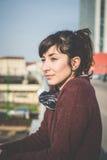 Young beautiful hipster woman success Stock Photos
