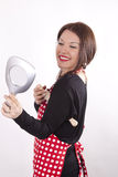 Young beautiful housewife Royalty Free Stock Photo