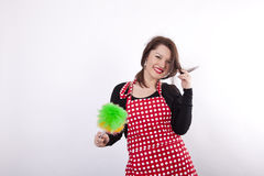 Young beautiful housewife Royalty Free Stock Image