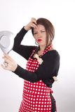 Young beautiful housewife Stock Images