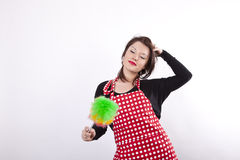 Young beautiful housewife Royalty Free Stock Photos