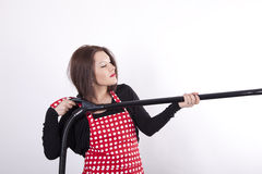 Young beautiful housewife Stock Photography