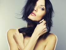 Young beautiful lady stock images