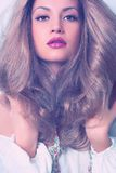 Young beautiful lady. Photo of young beautiful lady with magnificent blond hair Royalty Free Stock Photo