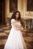 Young beautiful lady. Romantic portrait of young beautiful lady in palace Stock Image