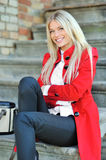 Young beautiful lady portrait smiling outdoors Royalty Free Stock Photography