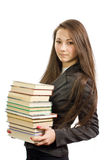 The young beautiful librarian Stock Images