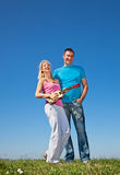 Young beautiful lover play music on guitar Stock Photography