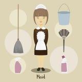 Young beautiful maid Stock Photos