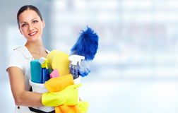 Young beautiful maid. Royalty Free Stock Photography