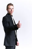 Young and beautiful man making ok sign Royalty Free Stock Images
