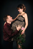 Young beautiful married Stock Photography