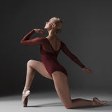 Young beautiful modern style dancer posing on a Royalty Free Stock Photo