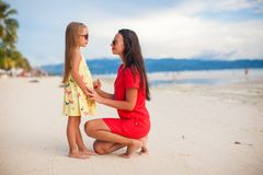 Young beautiful mother and her adorable daughter Royalty Free Stock Photography