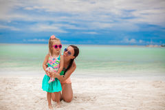 Young beautiful mother and her adorable little Royalty Free Stock Photography