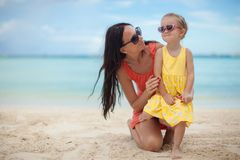 Young beautiful mother and her adorable little Royalty Free Stock Image