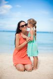 Young beautiful mother and her adorable little Royalty Free Stock Photo