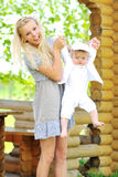 Young beautiful mother with her little child Royalty Free Stock Photos