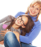 Young beautiful mother and her little daughter Royalty Free Stock Photo