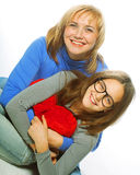Young beautiful mother and her little daughter Royalty Free Stock Images