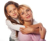 Young beautiful mother and her little daughter Stock Image