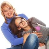 Young beautiful mother and her little daughter Royalty Free Stock Photography