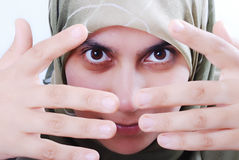 Young beautiful muslim female Stock Photos