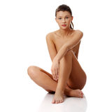 Young beautiful naked woman Royalty Free Stock Image