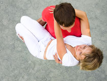 Young beautiful pair of lovers Royalty Free Stock Image