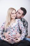 Young beautiful parents Stock Photos