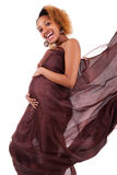Young beautiful pregnant african woman Stock Photo