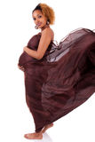 Young beautiful pregnant african woman Stock Images
