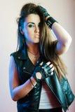 Young beautiful punk girl Royalty Free Stock Photos