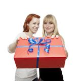 Young beautiful red and blond haired girls Royalty Free Stock Photography