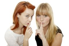 Young beautiful red and blond haired girls Royalty Free Stock Photos
