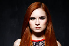 Young beautiful red hair woman Royalty Free Stock Images