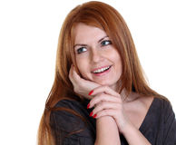 Young beautiful redhair woman Royalty Free Stock Image