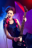 Young beautiful rock star Royalty Free Stock Photography