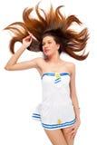 Young beautiful sailor woman Stock Images