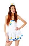 Young beautiful sailor woman Stock Image