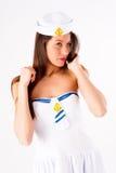 Young beautiful sailor woman Stock Photos