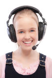 Young beautiful schoolgirl royalty free stock images