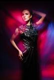 Young, beautiful and seductive girl posing in dress. Stock Photography