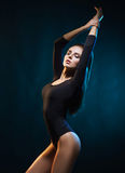 Young, beautiful and seductive girl posing in swimsuit. Royalty Free Stock Images