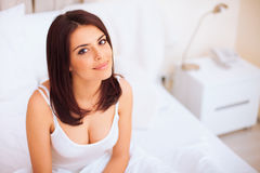 Young beautiful serene woman Royalty Free Stock Image